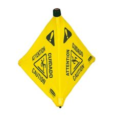 "Rubbermaid Yellow Multilingual 30"" Wet Floor Pop-Up Safety Cone"