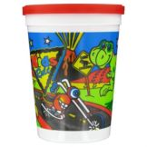 "Fun Express IN-85/1031 ""Kids Rule"" Plastic Cups With Lids - 500 / CS"