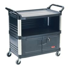 Rubbermaid® FG409500BLA Xtra™ Equipment Cart w/ Locking Door