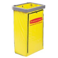 Rubbermaid Yellow Vinyl Zippered 20 Gal Bag for 6173-88 Cleaning Cart