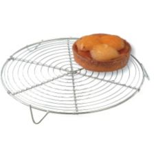 "Paderno 47098-22 Chrome 8-5/8"" Round Cooling Rack"