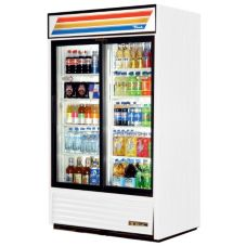True GDM-41 White 2-Sliding Door Refrigerated 41 Cu Ft Merchandiser