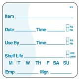 "DayMark 112437 DissolveMark 2"" Use By / Shelf Life Label - 250 / RL"
