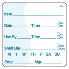 "DayMark DissolveMark™ 2"" Use By / Shelf Life Label"