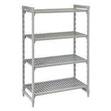Camshelving CSU44487480 Gray Vented 4-Shelf Stationary Starter Kit