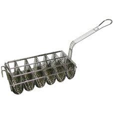 Pronto® Products 6-8HDB 6 Slot Wavy Taco Fry Basket for OTB