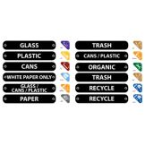 Rubbermaid 11-Piece Recycling Label Kit