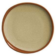 "Syracuse® 922222350 Terracotta 6.38"" Pine Tan Plate - 12 / CS"
