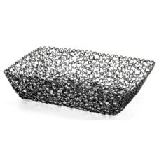 "Tablecraft Boucle Collection™ 9"" Black Rectangular Basket"