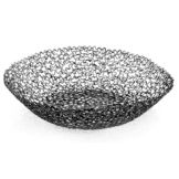 "Tablecraft BK37510 Boucle Collection™ 9-1/2"" Black Basket"