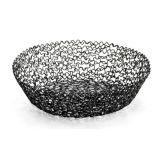 "Tablecraft BK37508 Boucle Collection™ 8"" Black Round Basket"