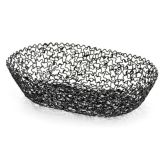 "Tablecraft BK37409 Boucle Collection™ 8-1/2"" Black Basket"