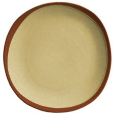 "Syracuse 922222352 Terracotta 10.75"" Pine Tan Plate - 12 / CS"