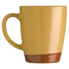 Syracuse 922226354 Terracotta 14 Oz. Mustard Seed Yellow Mug - 12 / CS