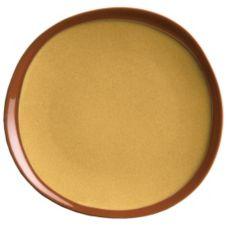"""Syracuse 922226351 Terracotta 9"""" Mustard Seed Plate - 12 / CS"""