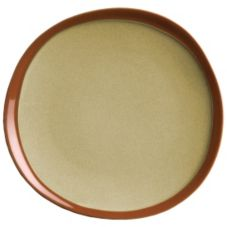 "Syracuse® 922222351 Terracotta 9"" Pine Tan Plate - 12 / CS"
