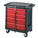 "Rubbermaid® FG773488BLA 5-Drawer 33""H Mobile Work Center Cart"