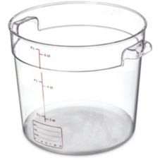 Carlisle® StorPlus™ 6 Qt. Round Clear Food Storage Container