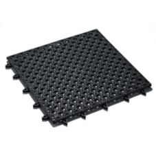 "American Metalcraft Black Vinyl 12 x 12"" Bar Tiles"