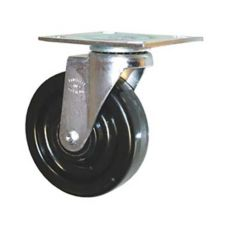 "Rubbermaid® 1316L2 Black 5"" Swivel Caster For 1316 Tilt Truck"
