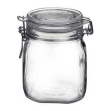 Bormioli Rocco 4949Q455 37-3/4 Oz Clear Top Fido Jar - 12 / CS