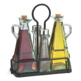 TableCraft 61517NBK Marbella Oil & Vinegar / Salt & Pepper Set