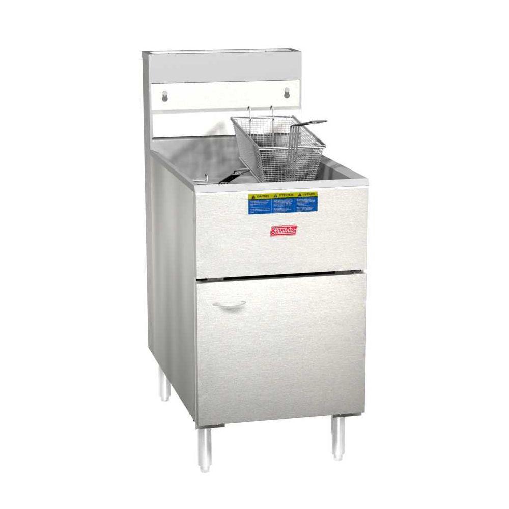 Pitco frialator 65s lp economy 80 lb propane fish fryer ebay for Fish fryer propane
