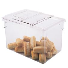 "Cambro® 182615CW135 Clear 22 Gal 18"" x 26"" x 15"" Food Storage Box"