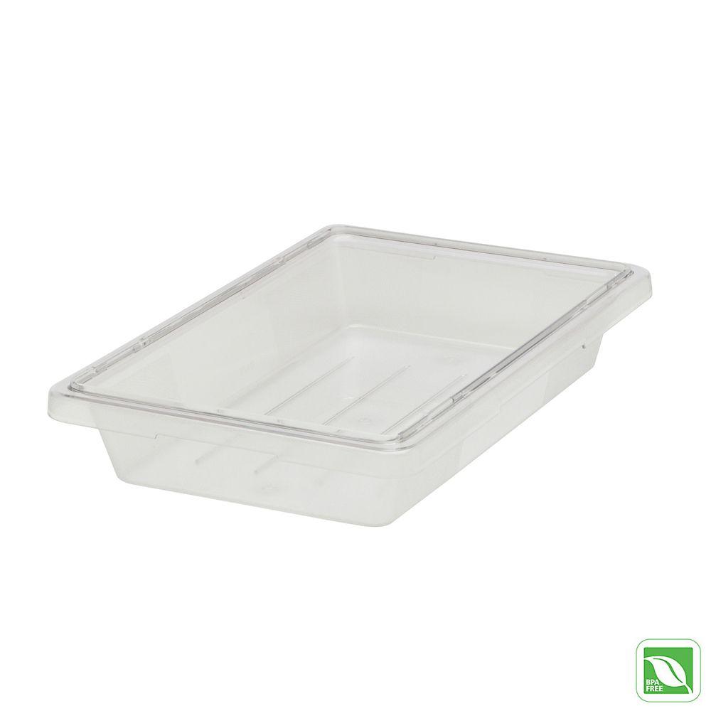 Rubbermaid FG330400CLR Clear 5 Gallon 18 x 12 x 9 Food Box