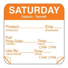 "DayMark 115151-6 ToughMark 2"" Saturday Use By Day Square - 500 / RL"