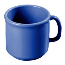 Carlisle 4305214 Stackable 10 Oz. Ocean Blue Plastic Mug - 12 / CS