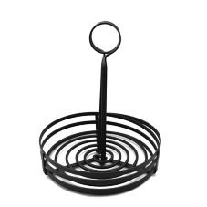 "American Metalcraft FWC89 Black 8"" Rnd Flat Coil Condiment Holder"