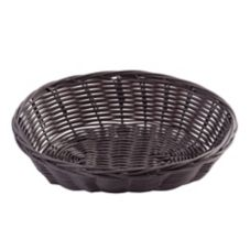 "TableCraft 1474 9"" x 6"" Oval Woven Plastic Basket - Dozen"