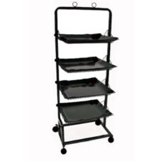Mobile Merchandisers K2456 4-Shelf Produce Display Rack with Liners