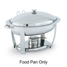 Vollrath® 46504 Orion® Oval 6 Qt Chafer S/S Food Pan