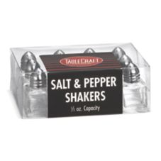 TableCraft C30A Cash & Carry 0.5 Oz. Salt & Pepper Shakers