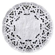 "Lapaco Paper Products White Lace 3-1/2"" Doily"