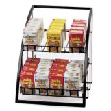 "Cal-Mil® 1702 Black 13-1/2 x 15"" 2-Tier Wire Merchandiser"