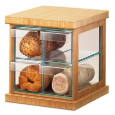 Cal-Mil® 1718-60 Bamboo Trim 4 Drawer Bread Case