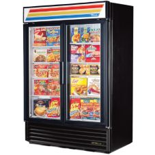 True GDM-49F-LD Blk 2 Glass Swing Door Freezer Merchandiser