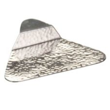 American Metalcraft OTPH3 Triangle Hammered Finish S/S Tasting Plate