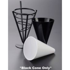 American Metalcraft MELFCB534 Medium Black 10 Oz Fry Cone - 6 / CS