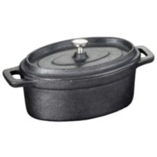 American Metalcraft Mini Round 17.5 Oz. Cast Iron Casserole Pan
