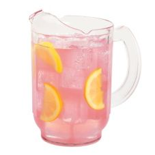 Cambro PL60CW135 Clear Camwear® 60 oz Pitcher with Large Handle
