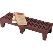 Cambro® 109505 Dark Brown Slotted Top Dunnage Rack