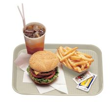 "Cambro® 1418FF106 Light Peach 14"" x 18: Fast Food Tray - Dozen"