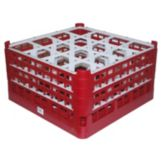 Vollrath® 5277099 Burgundy 16-Compartment XX Tall Glass Rack
