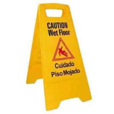 Winco® WCS-25 Yellow Wet Floor Caution Sign
