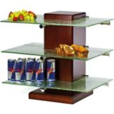 Buffet Euro POS3G Wooden Pillar Post Stand With Green Glass Shelves