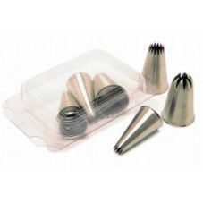 Matfer Bourgeat 166700 S/S Star Shapes Pastry Tips